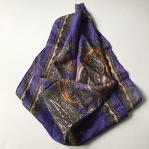 """Women's silky square paisley scarf, ~ 25"""" sq."""